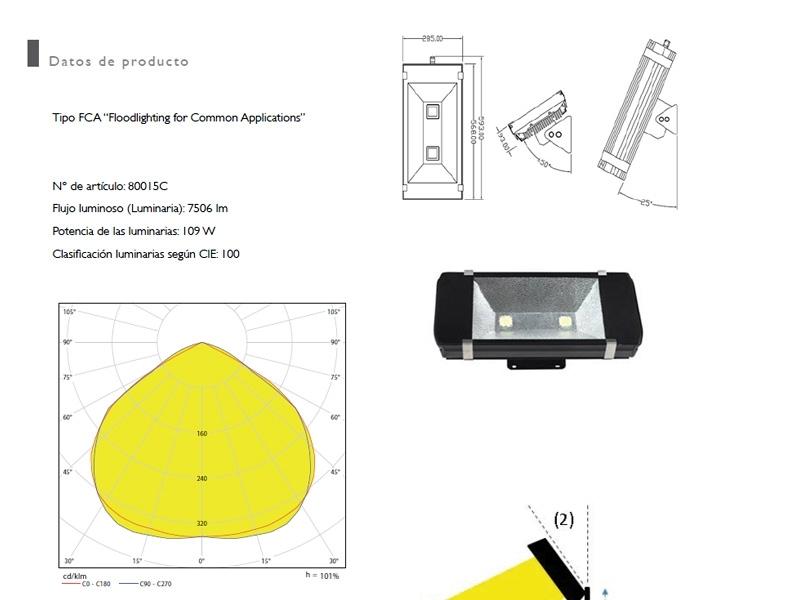Proyectores LED para aplicaciones comunes