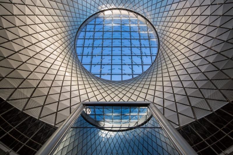 Fulton Center + Sky-Reflector Net, New York, USA