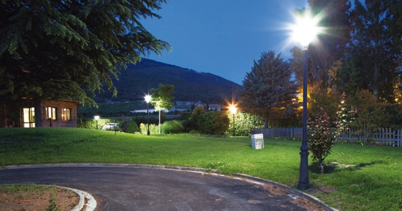 iluminacion vial zonas verdes